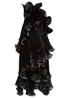 Givenchy One-shoulder ruffled Lurex silk-blend dress