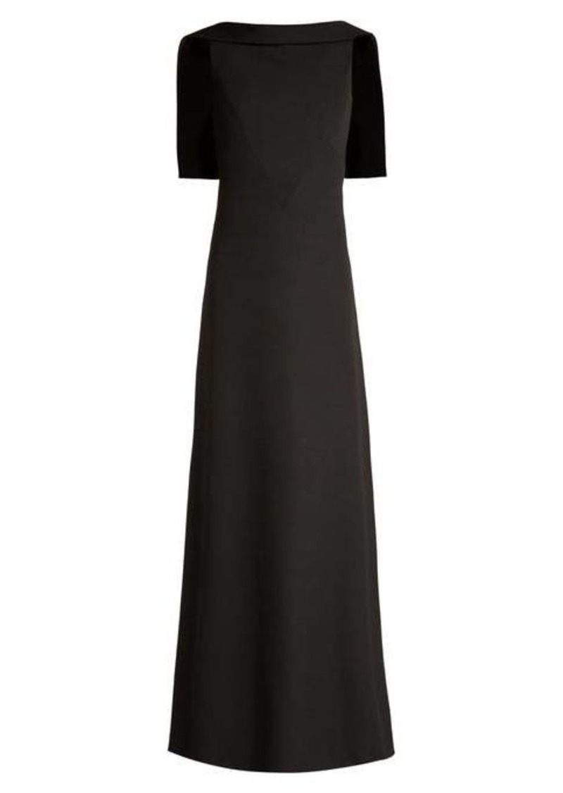 Givenchy Open-back wool-crepe gown