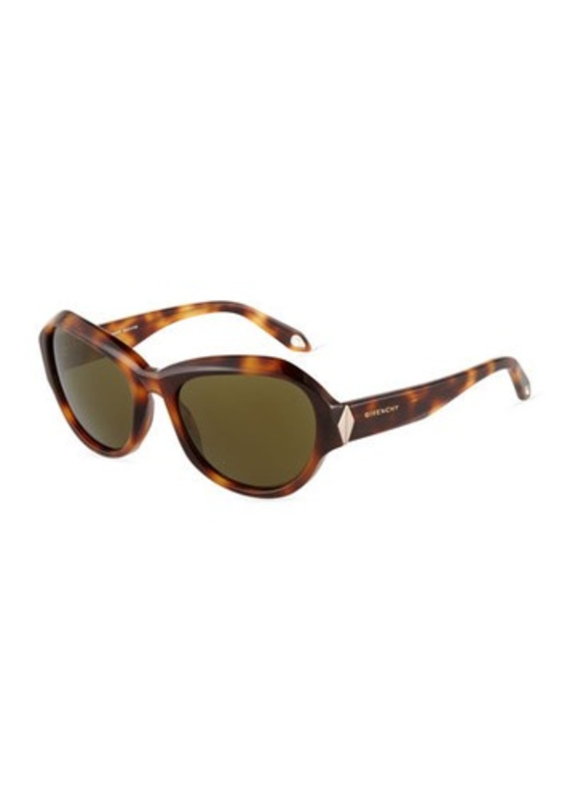 Givenchy Oval Faceted-Frame Sunglasses