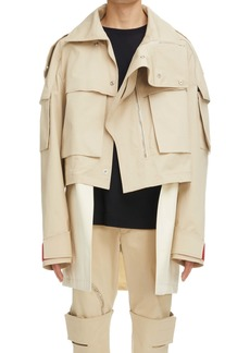 Givenchy Oversize Crop 2-in-1 Parka
