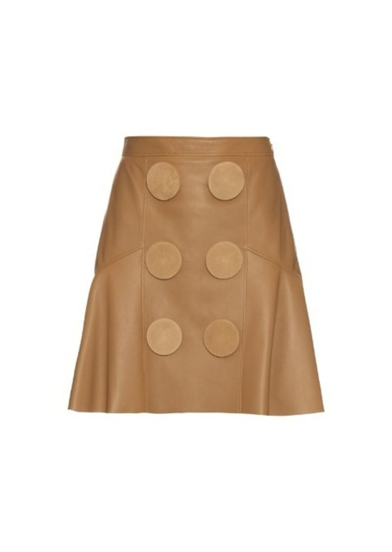 Givenchy Oversized buttons leather peplum skirt