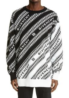 Givenchy Oversized Chaîne Jacquard Sweater