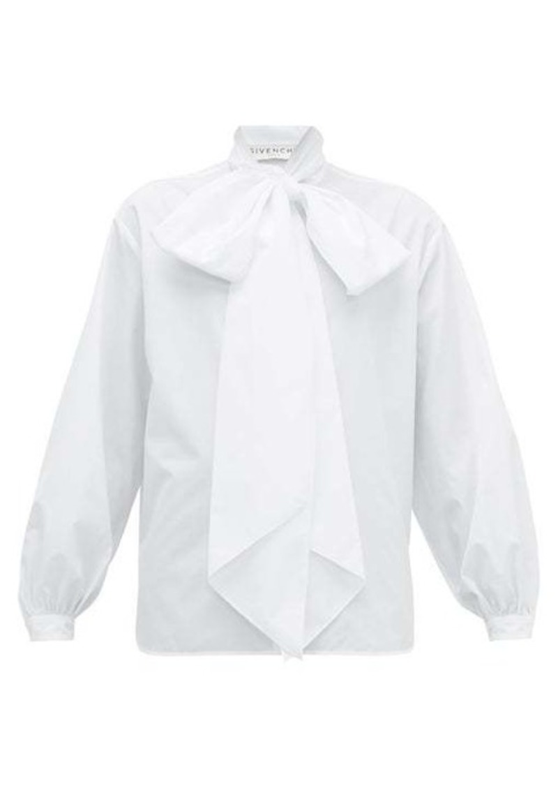Givenchy Oversized pussy-bow cotton shirt