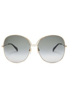 Givenchy Oversized round metal sunglasses