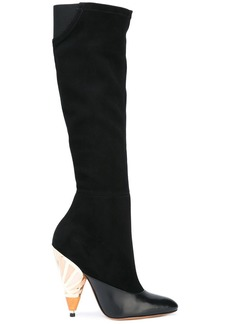 Givenchy painted heel knee high boots - Black