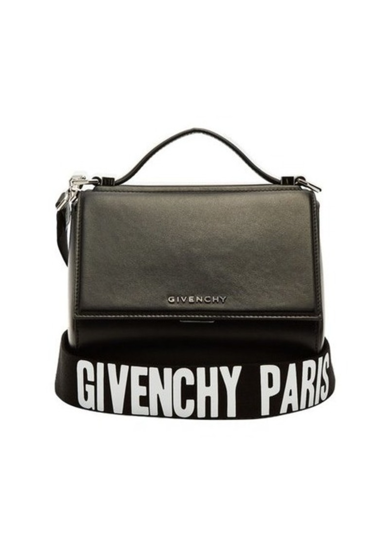 3e28e48636c9 Givenchy Givenchy Pandora box logo-strap cross-body leather bag ...