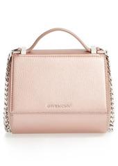 Givenchy 'Pandora Box' Metallic Leather Minaudière