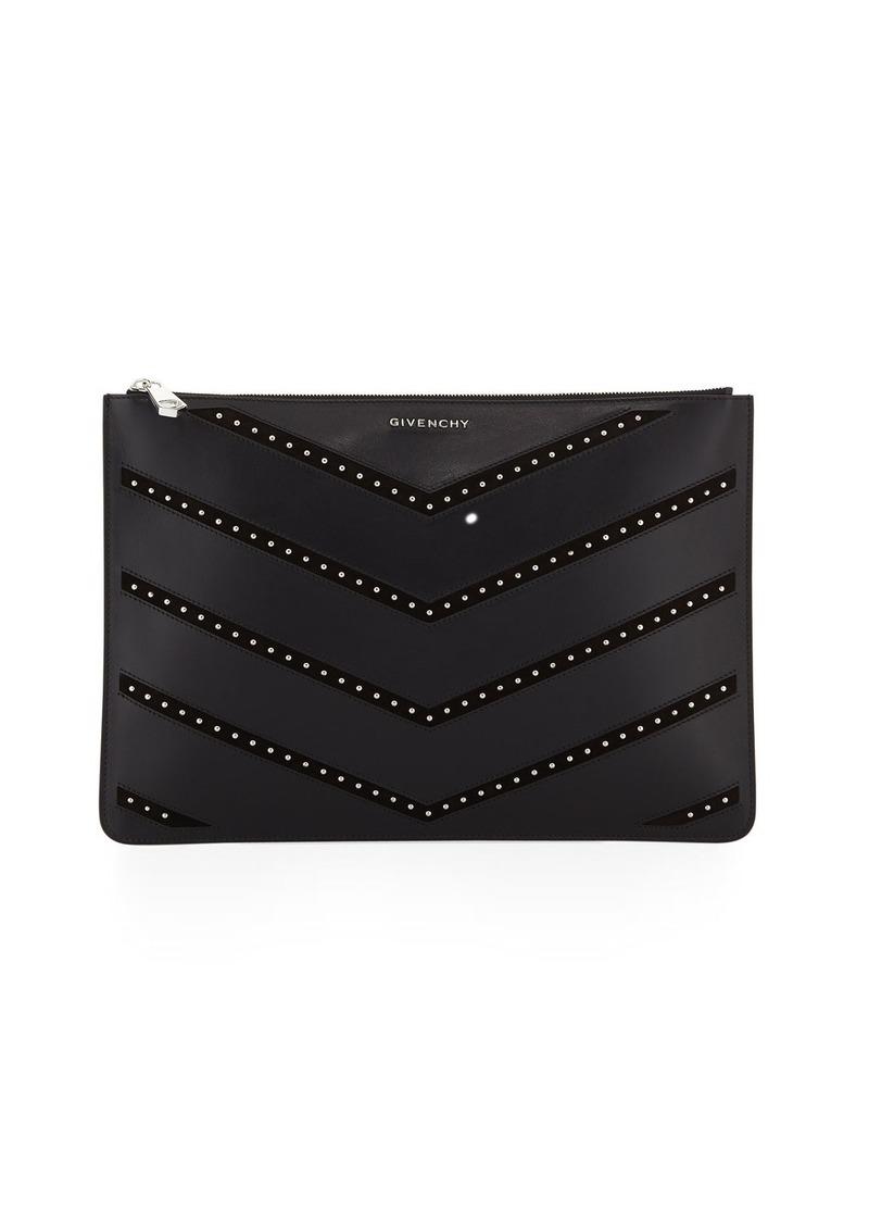 Givenchy Givenchy Pandora Medium Studded Chevron Pouch Bag   Handbags e27004ede5