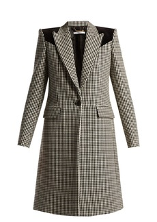 Givenchy Panelled houndstooth wool coat