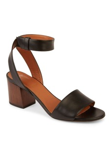 Givenchy Paris Leather Block Heel Sandals