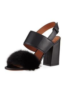 Givenchy Paris Mink Block-Heel Sandal