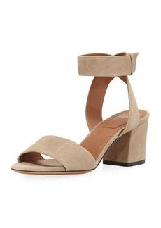 Givenchy Paris Suede Ankle-Wrap Sandal