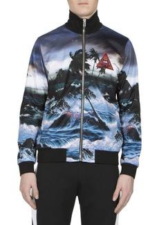 Givenchy Patch Hawaii-Print Zip Jacket