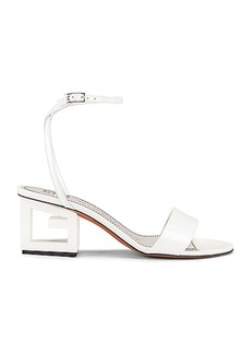 Givenchy Patent Leather Triangle Heel Strap Sandals
