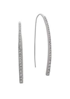 Givenchy Pavé Crystal Bar Threader Earrings