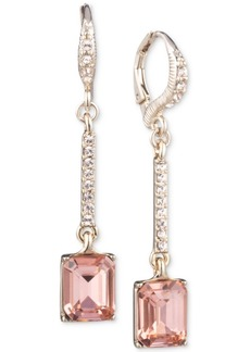 Givenchy Pave & Stone Linear Drop Earrings