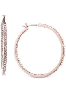 "Givenchy Pave 1 1/4"" Medium Hoop Earrings"