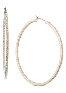 "Givenchy Pave 2"" Medium Hoop Earrings"