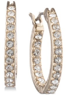 "Givenchy Pave Extra Small 1/2"" Hoop Earrings"