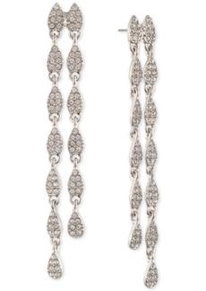 Givenchy Pave Pear-Shape Double-Row Linear Drop Earrings