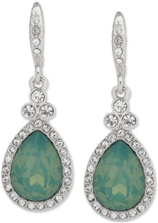 Givenchy Pave Pear-Shape Drop Earrings