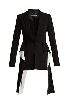 Givenchy Peak-lapel single-breasted cady jacket