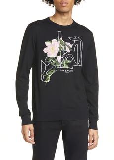 Givenchy Peony Jacquard Crewneck Sweater
