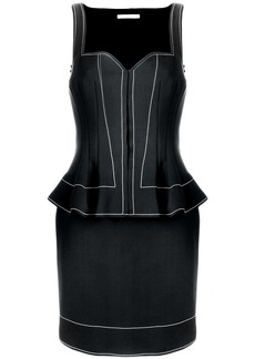 Givenchy peplum waist fitted dress