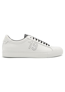 Givenchy Perforated-star low-top leather trainers