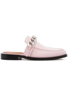 Givenchy pink chain flat leather loafers - Pink & Purple