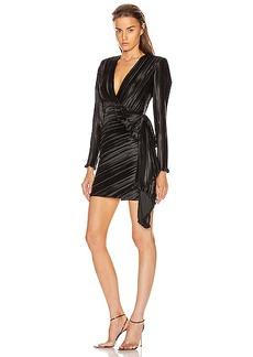 Givenchy Pleated Bow Wrap Dress