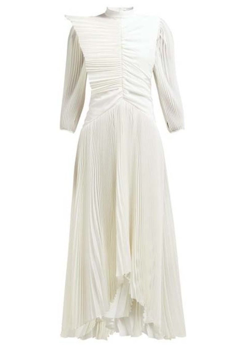 Givenchy Pleated silk crepe de Chine gown
