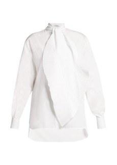Givenchy Pleated-tie cotton shirt
