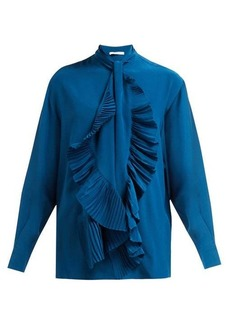 Givenchy Pleated-tie silk crepe de Chine blouse