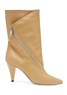 Givenchy Point-toe calf-height leather boots