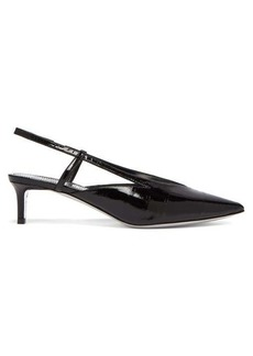 Givenchy Point-toe eel-skin slingback pumps