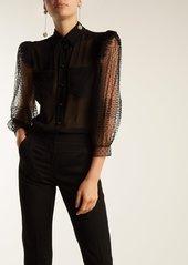 Givenchy Polka-dot silk blouse