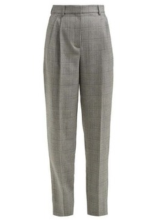 Givenchy Prince of Wales check tapered wool trousers