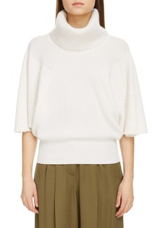 Givenchy Puff Sleeve Turtleneck Cashmere Sweater