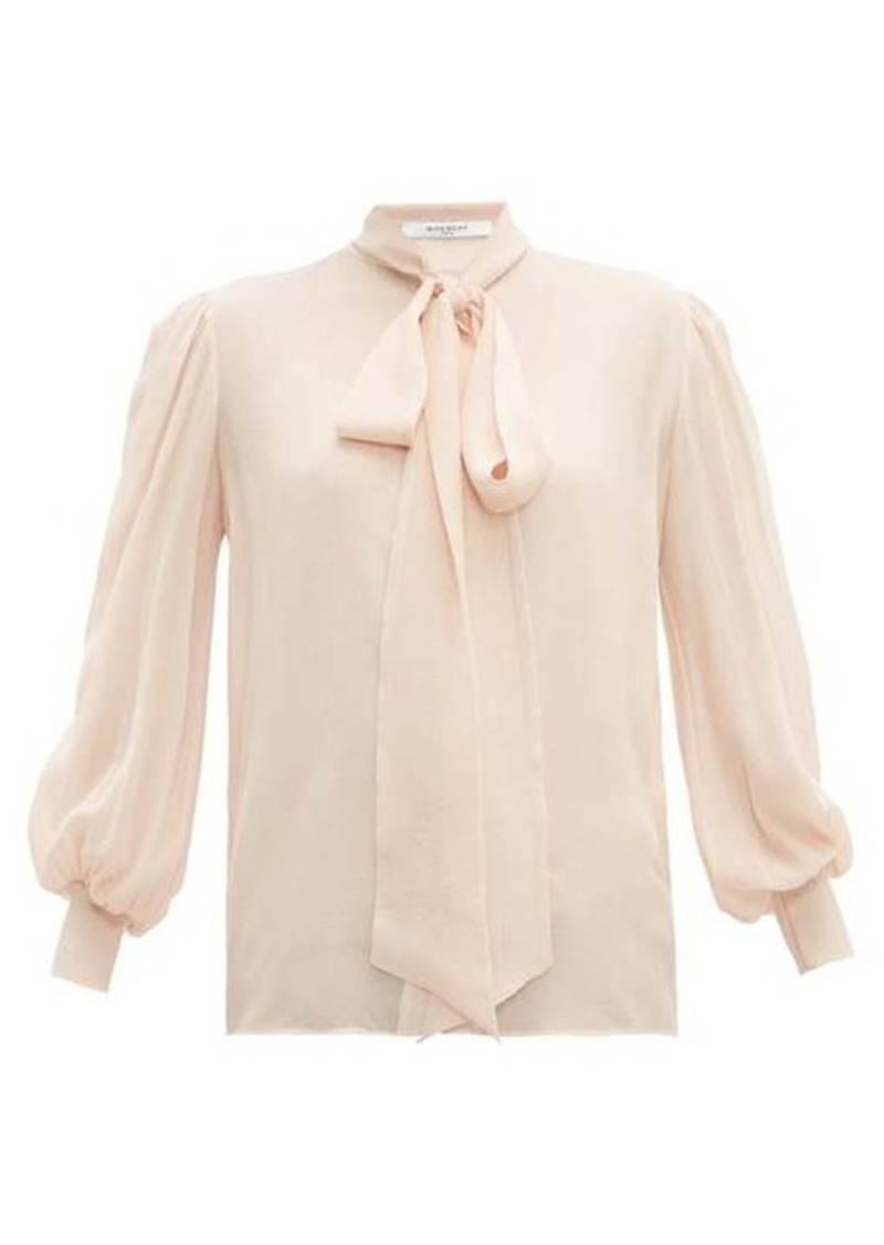 Givenchy Pussy-bow silk-crepe blouse