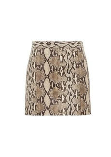 Givenchy Python-effect leather mini skirt