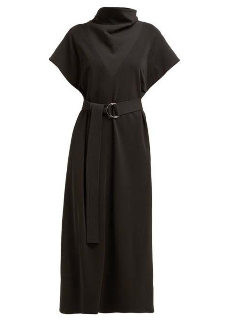 Givenchy Quilted cowl-neck shift dress