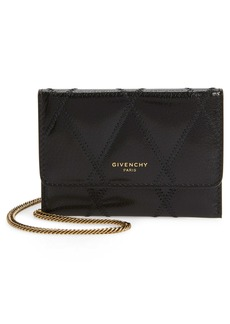 Givenchy Quilted Goatskin Leather Card Case on a Chain