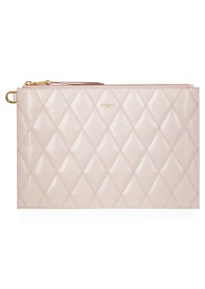 Givenchy Quilted Leather Zip Pouch
