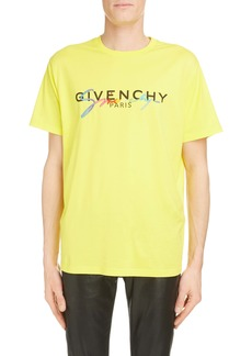 Givenchy Rainbow Logo Cotton T-Shirt