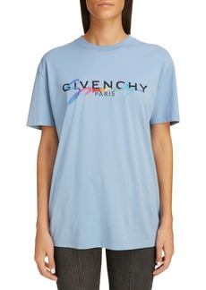 Givenchy Rainbow Logo Oversize Short Sleeve Tee
