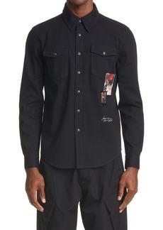 Givenchy Rare Patch Detail Denim Shirt