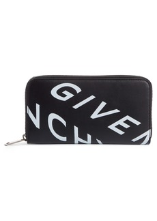 Givenchy Refracted Leather Zip Wallet