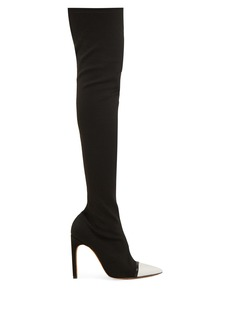 Givenchy Ribbed-knit over-the-knee boots