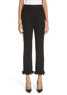 Givenchy Ribbed Ruffle Hem Pants